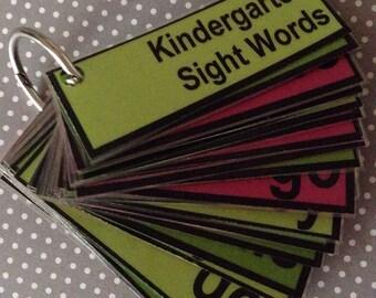 Mini Kindergarten Sight words flashcards teacher made