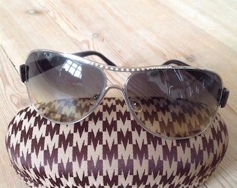 Vintage designer aviator womens sunglasses