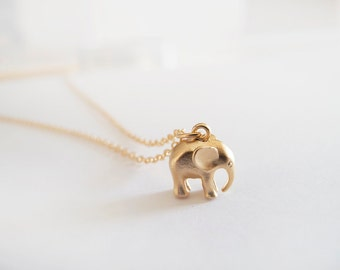 Gold Elephant Necklace -  Everyday Jewelry