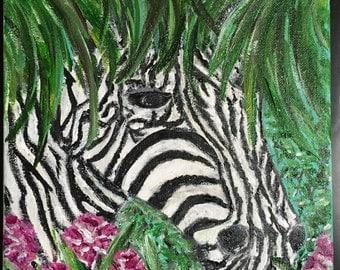 Zebra in hiding