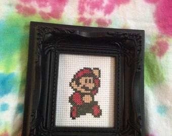 Super Mario Cross Stitch Magnet