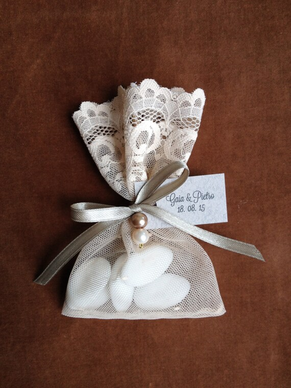 Wedding Favor Bags Lace : Items similar to Lace Wedding Favor Bags, Party Favors, Wedding Favors ...