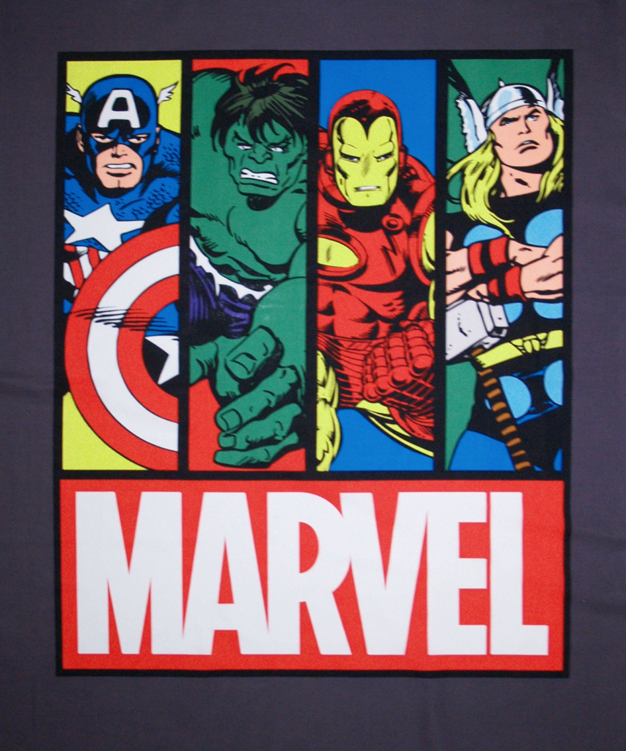 MARVEL Avengers Cotton Fabric Panel 43x36 Springs