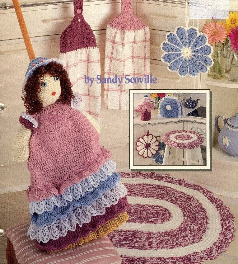 CROCHET KITCHEN PROJECTS Pattern Book 8 Designs Rug