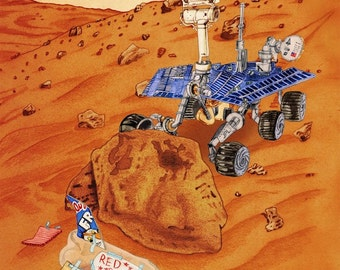 "Mars Rover Print, ""Science Fair Project"""