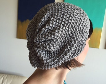 Ready to Ship | Gray Seed Stitch Knit Hat