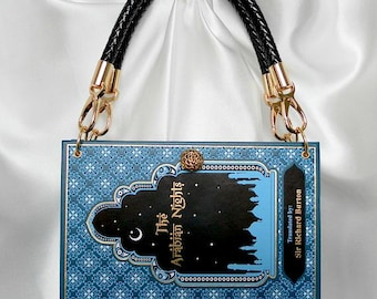 The Arabian Nights Book Handbag - Book Cover Purse - Aladdin Bag - Ali Baba Story Book