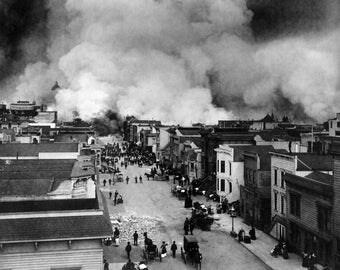 San Francisco Earthquake Fire 1906 Photo Print