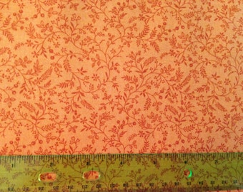 Autumn harvest fabric - thanksgiving fabric - fall fabric - flower fabric - floral fabric - yellow fabric - fall fabric by the yard - #1569