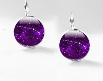 Aries Earrings, Aries Constellation Earrings - Aries Jewelry