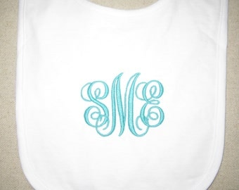 Monogrammed Bib - Embroidered
