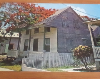 1965 Quaint Street In Old Florida At Key West Postcard Free Shipping