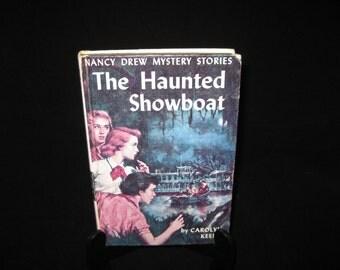 Vintage Nancy Drew #35-The Haunted Showboat by Carolyn Keene 1957 HB