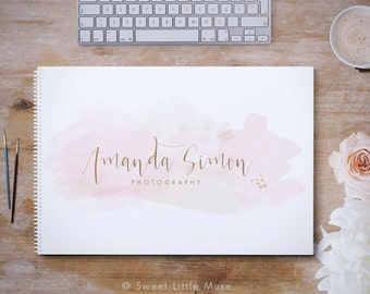 Watercolor Photography Logo - premade logo  - Watercolor Logo - Calligraphy Logo design and watermark