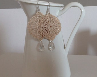 India Beige Earrings