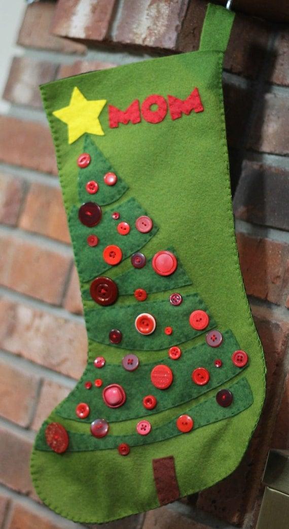 Christmas Tree Christmas Stocking Felt Pattern Instant