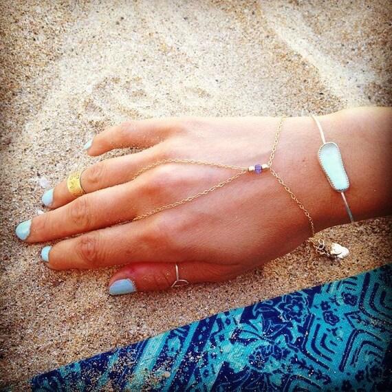 gemstone hand chain - adjustable