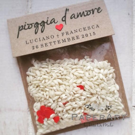 10 sacchettini porta riso mod pioggia - Porta riso matrimonio ...