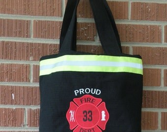 Firefighter Wife Small Purse black