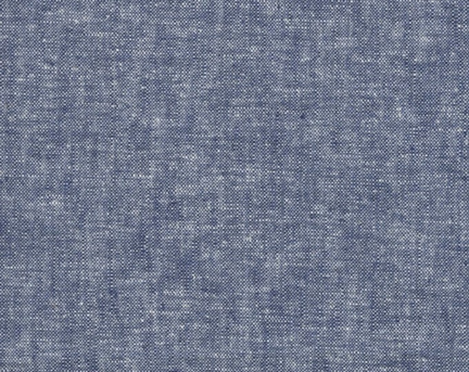 Robert Kaufman Yarn Dyed Essex - Denim - Cotton Fabric