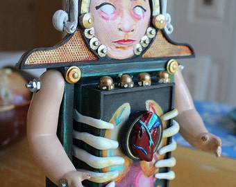 Locked Up: An Anatomical Assemblage Art Doll
