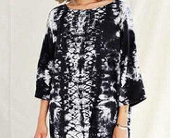 Hand-dyed Dress, Oversized Silk Dress Tunic, Loose Minimalist Dress, Tunic Dress, Boho Dress, Casual Dress,   Boho Clothing