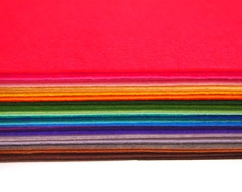 """Stiff Wool Felt Sheets - You will get 40 Sheets of 12"""" x 12"""" in Various Colors (Worldwide Free Shipping)"""