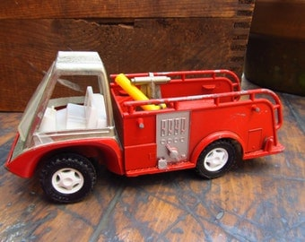 Hubley Toy Fire Truck - 1960s Metal Toy Hubley