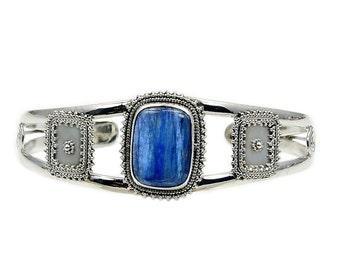 Kyanite & .925 Sterling Silver Cuff Bracelet , AD380