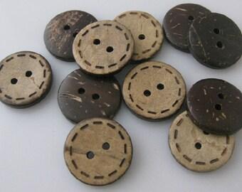 Wholesale Lot:  300 pcs vintage style   wood  button   DIY  Scrapbooking  SUPPLies 10mm