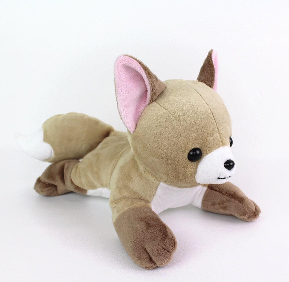 Squishy Dog From Pokemon : PDF sewing pattern - Fox stuffed animal - laying dog wolf Vulpix Pokemon plushie - easy DIY ...