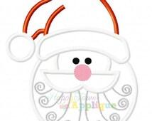Santa Face Machine Applique Embroidery Design