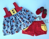 Mousketeer Tilly Top and Darby Set, Disney Mickey Mouse and Minnie Mouse Outfit