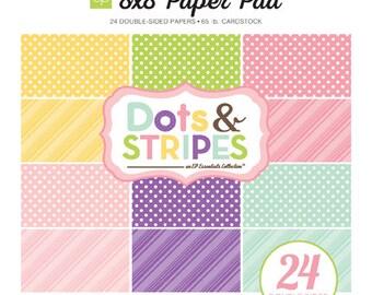 Echo Park Paper DOTS & STRIPES Spring 8x8 Scrapbook Paper Pad (DS15008)