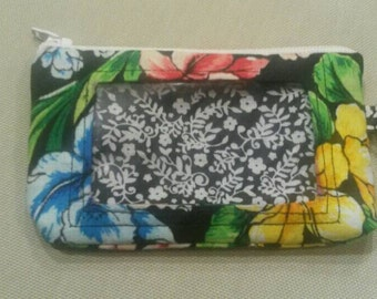 What's up bud floral wristlet
