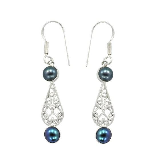 Unique Black Stud Earrings Women Crystal Vintage Statement Earrings For Women