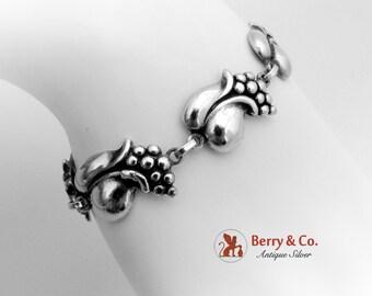 Retro Blossom Bracelet Sterling Silver 1950