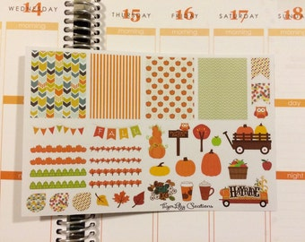 Fall, autumn, pumpkin patch planner sticker set!