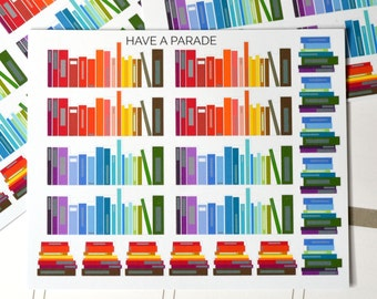 20 Book Shelf and Book Stack Stickers for your Erin Condren Life Planner