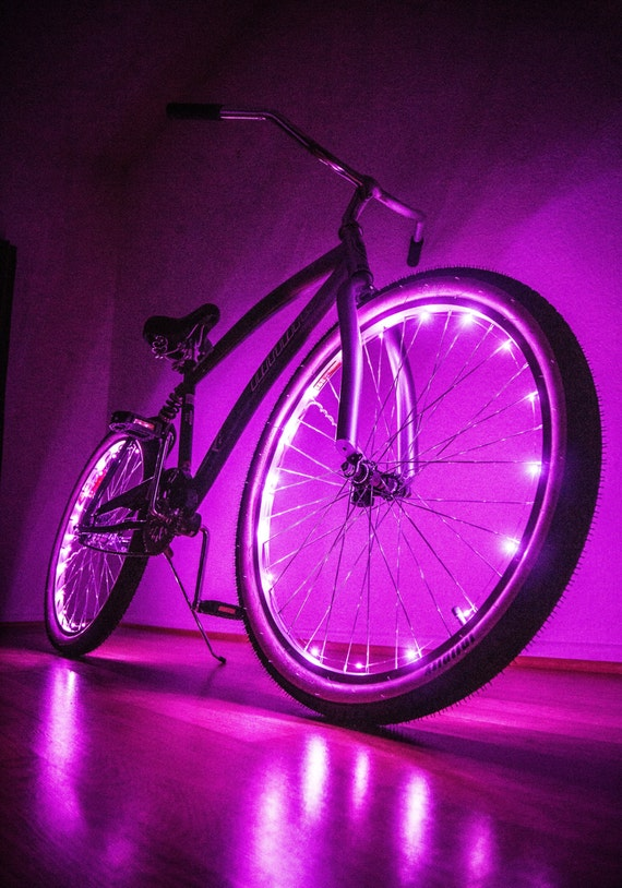 Bike Led Lights Bicycle Battery Powered Glow In By
