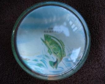Omaha Nebraska Fish Paperweight