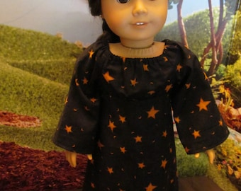 Witch Dress for 18'' Dolls , Halloween Costume for 18'' Dolls , Trick or Treat Dress, Fun Halloween Doll Dress, Halloween Party Dress