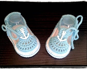 Crochet baby boys summer sandals,Crochet blue and white sandals,Crochet boys shoes,blue, white, nautical decor.