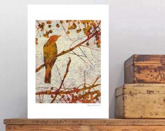"Fine Art print, ""Remember the Song Birds? 5"" by Karyn Fendley"