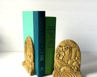 Vintage Bookends, Leaf Design