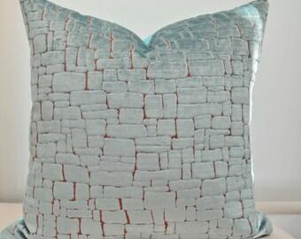 Blue Velvet  Pillow Cover,Mosaic Pattern Pillow Cover,Animal Print Pillow Cover,Pebble Pillow Cover,Harlequin Ascent Pillow ,Blue Pillow