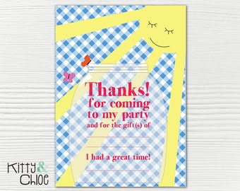 Sunshine Party Thank You Cards, 5x7 or 4x6