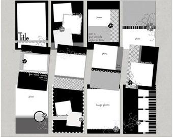 Mini Me 4x6 Brag Book Mini Album Digital Scrapbooking Templates
