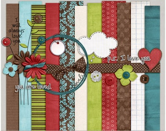 Loverly Kit - Papers & Elements for Digital Scrapbooking