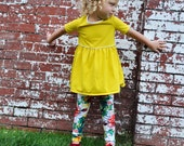 Baby Leggings, Watercolor Floral Leggings, MADE TO ORDER Cotton Leggings by The Little Spoons